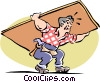Carpenter at work Vector Clip Art graphic