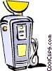 Vector Clip Art picture  of a gasoline pump