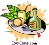 Vector Clip Art graphic  of a exotic drinks