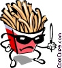 Vector Clip Art graphic  of a French fry character