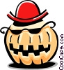 Vector Clip Art picture  of a pumpkin character