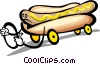 Vector Clip Art graphic  of a hot dog character