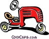 child's riding toy Vector Clipart graphic