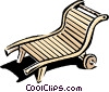 Vector Clipart image  of a lounge chair or deck chair