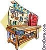Vector Clipart picture  of a Garage workbench