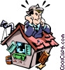 house expenses Vector Clipart illustration