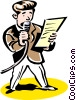 announcer Vector Clipart graphic