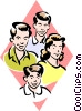 family Vector Clip Art graphic