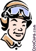 race car driver Vector Clip Art picture