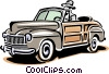 Late model automobile Vector Clipart illustration