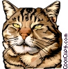 Vector Clip Art graphic  of a Relaxed cat