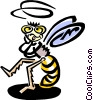 Vector Clip Art graphic  of a bee