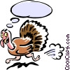 Vector Clipart graphic  of a turkey having a thought