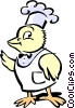 Vector Clip Art image  of a chef bird