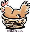 Vector Clipart illustration  of a bird hen
