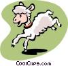 Vector Clip Art image  of a lamb