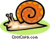 Vector Clipart image  of a snail