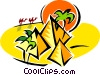 Vector Clipart graphic  of a pyramids