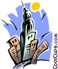 Vector Clipart graphic  of a city skyline Empire State
