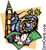 Casino gambling Vector Clip Art picture