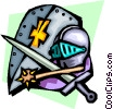 Vector Clip Art image  of a Knight's armor