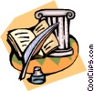 Greek intellectualism Vector Clipart picture