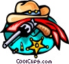 old west Vector Clip Art image