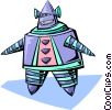 Vector Clipart graphic  of a robot]