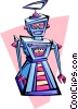 Vector Clipart graphic  of a robot