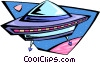 Vector Clipart graphic  of an alien spacecraft