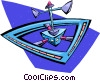 Vector Clipart graphic  of a space station
