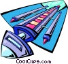 Vector Clip Art graphic  of a spaceship