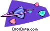 Vector Clip Art graphic  of a planet Saturn