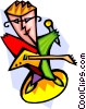 Vector Clipart picture  of a music and