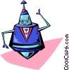 Vector Clip Art image  of an alien