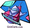 Vector Clipart picture  of a spacecraft