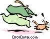 Vector Clip Art picture  of a man chasing cat