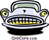 Vector Clip Art image  of a cartoon car
