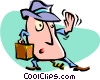 Vector Clip Art graphic  of a cartoon businessman