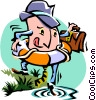 testing the water Vector Clipart picture