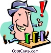 Vector Clipart graphic  of a cartoon businessman/success