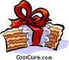 Vector Clip Art graphic  of a Wedding cake