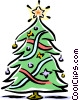 Christmas tree Vector Clipart picture