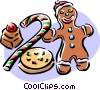 Vector Clipart graphic  of a Christmas goodies/food