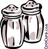 salt and pepper shakers Vector Clip Art graphic