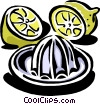 Vector Clip Art image  of a Lemon juicer