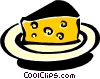 Vector Clip Art image  of a cheese