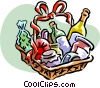 house warming gift or gift basket Vector Clipart picture