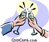 Vector Clipart picture  of a Making a toast