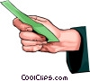 Vector Clipart graphic  of a hand holding money